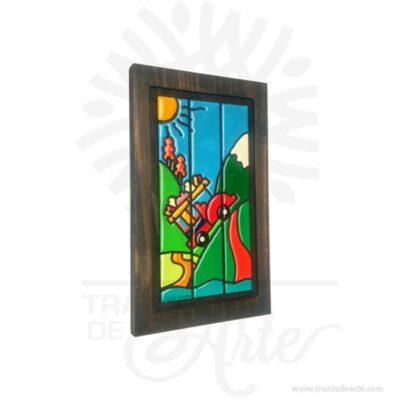 Hermoso cuadro chiva colombiana en artesanal en madera son una excelente alternativa a los cuadros tradicionales, pintado a mano. Es un elemento decorativo perfecto para hogar o la empresa. Este es un maravilloso regalo empresarial o para amigos y familiares. Una pintura es elsoporte pintadosobre un muro, un lienzo, lámina o madera.  La palabrapinturase aplica también alcolorpreparado para pintar, asociado o no a una técnica de pintura; en este sentido es empleado en la clasificación de la pintura atendiendo a las técnicas de pintar, por ejemplo: «pintura al fresco» o «pintura al óleo». La clasificación de la pintura puede atender a criterios temáticos (como la «pintura histórica» o la «pintura de género») o a criterios históricos basados en los periodos de laHistoria del Arte(como la «pintura prehistórica», la «pintura gótica») y en general de cualquier período de lahistoria de la pintura. Cuadro chiva colombiana Tamaño 37 × 23 × 1,8 cm. Color: Descripción en foto. Pintado a mano. Vendido y enviado por: Trazos de Arte. Envió rápido y seguro. Personalización Realice un pedido personalizado, podemos agregar lo que desee, como nombre, fecha, frase, logotipo, imagen o empaque regalo. Ofrecemos: Grabado por láser, grabado CNC Router, sublimado o papel adhesivo, el precio varía según el tipo de personalización que desee, encontrara más información enServiciosen nuestro menú secundario. Si desea cotizar o tiene preguntas presione el botónCotizar personalizacióncon gusto las responderemos.