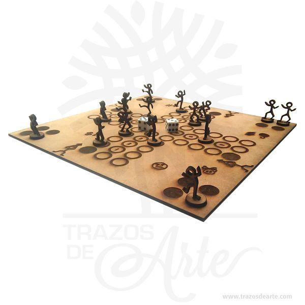 Hermoso parqués cortado en láser, es un juego muy divertido,  esta hecho en MDF de alta calidad de 3 mm, Es un elemento decorativo perfecto para hogar o la empresa. Este es un maravilloso regalo empresarial o para amigos y familiares. Parqués es un juego de mesa colombiano derivado del Parchís español y este a su vez del antiguo Pachisi, Chaupat. El parqués es un juego de pensar influido por el azar; se juega con dos dados, pero se deben pensar las jugadas para tratar de escoger la mejor. Cada jugador posee 4 fichas; sin embargo, se puede jugar con menos. Hay tableros de parqués para 4, 6, 8 y 12 jugadores, siendo los más comunes los de 4. Es un juego para 2 jugadores en adelante. El turno se pasa por la derecha y la meta es llevar todas las fichas hasta el final utilizando diferentes estrategias como enviar a otros jugadores a la cárcel, proponer captura de fichas y distribuir las fichas para encerrar a las otras entre seguros, propiciando el riesgo. Los tableros pueden ser de varios tipos y motivos: el tipo más común es el tablero enmarcado que permite que se lancen los dados encima de él. Se venden los motivos de bolsillo que están hechos de cartón, los clásicos de madera y las versiones magnéticas,2  similares a los tableros de ajedrez de este tipo. Asimismo, los entusiastas del juego pueden dibujar y enmarcar el tablero ellos mismos. El más común es el de cuatro puestos, pero también existen los inusuales de seis u ocho. Cuando hay dos jugadores las cárceles se dejan en diagonal y cuando hay tres se disputa quién gana la «larga», es decir, la zona que a la derecha no tiene un oponente, por medio del que saque mayor número en los dados. Parqués cortado en láser Tamaño 30 × 30 cm. Material: MDF de alta calidad 3 mm. Color: Descripción en foto. Vendido y enviado por: Trazos de Arte. Envió rápido y seguro. Personalización Realice un pedido personalizado, podemos agregar lo que desee, como nombre, fecha, frase, logotipo, imagen o empaque regalo. Ofrecemos: Grabado p