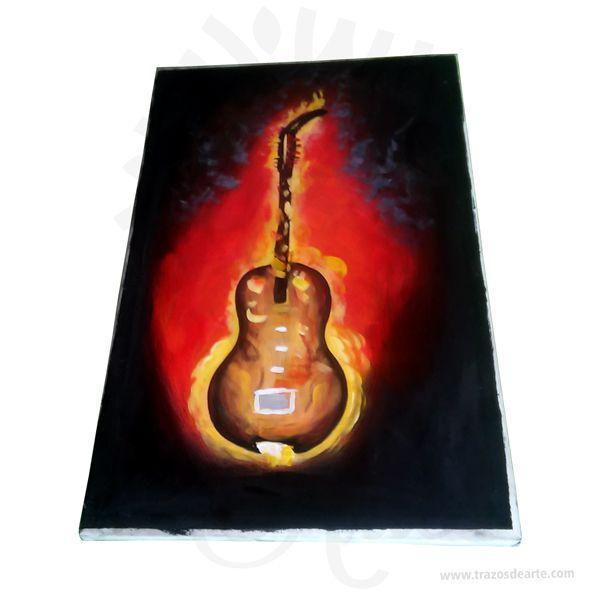 Pintura lienzo guitarra – Precio COP - Trazos de Arte