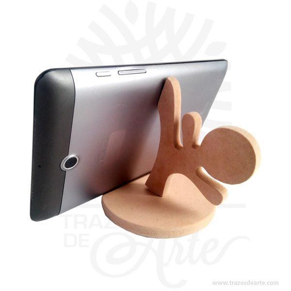 Soporte para tel fono m vil karate en mdf crudo precio cop trazos de arte - Oficina virtual de caja espana ...