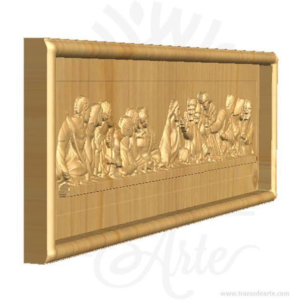 """Cuadro La Ultima Cena Tallado en Pino, un regalo ideal para para pintar y decorar, es un regalo ideal para familiares y amigos. Excelente para decorar el hogar, la empresa, el estudio simplemente regalar porque pensé en ti. Tallamos todo tipo de maderas, encuentra el diseño que te gusta,es un regalo maravilloso e inolvidable, Disfruta de una obra tallada en madera personalizada. Unatallaes una obra deescultura, especialmente enmadera. La madera se talla mediante un proceso de desgaste y pulido, con el propósito de darle una forma determinada, que puede ser un objeto concreto o abstracto. El producto final puede ir desde unaesculturaindividual hasta elementos decorativos. La Última CenaoSanta Cenason denominaciones convencionales de unepisodio evangélicoy untema artísticomuy representado en elarte cristiano. Fue la última ocasión en la queJesús de Nazaretse reunió con sus discípulos (los doceapóstoles) para compartir elpany elvinoantes de su muerte. Elcristianismoconsidera ese momento como el de la institución delsacramentode laeucaristía, y a esas """"especies"""" como """"el cuerpo y la sangre"""" de Cristo, aunque cada confesión cristiana difiere en su celebración litúrgica (misacotidianamente y anualmente eloficio delJueves Santo) y en su interpretación teológica (transubstanciaciónen elcatolicismo). Cuadro La Ultima Cena Tallado en Pino Medidas: 37 x 18 cm Material: Pino alta calidad de 1.8 cm de grosor. Vendido y enviado por: Trazos de Arte. Envió rápido y seguro. Fecha estimada de entrega: De 4 a 6 días hábiles (en Bogotá, Medellín, Cali), al resto del país de 5 a 14 días. La última cena(enitaliano:Il cenacolooL'ultima cena) es una pintura mural original deLeonardo da Vinciejecutada entre1495y1498. Se encuentra en la pared sobre la que se pintó originariamente, en elrefectoriodel conventodominicodeSanta Maria delle Grazie, enMilán(Italia), declaradoPatrimonio de la Humanidadpor laUnescoen1980. La pintura fue elaborada para su patrón, el duqueLudovico SforzadeMilán. Muchos"""