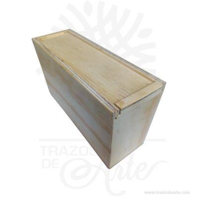 Caja regalo para personalizar en madera triplex de pino de 18 X 6 X 10 cm en crudo.Práctica caja para decorar y regalar, perfecta para los amantes de las manualidades y decoradores de fiestas y bodas. Esta caja de maderatriplex de pino es realmente original mantendrá sus recuerdos por muchos años. No ocupa mucho espacio y será una decoración de su hogar. La caja de madera perfeccionará el regalo para la boda, el aniversario, el día de San Valentín u otros eventos. La puede encontrar también como caja en MDF, caja decorativa , caja decorativa en madera MDF, cajas de madera para regalo o caja en madera con tapa. Elembalaje de maderase utiliza para para determinados productos tradicionales de gama alta (puros, bebidas alcohólicas, etc.). Los embalajes de madera siguen gozando de una buena imagen ante el consumidor al percibirlo como unproducto higiénico y con connotaciones de alta calidad. Se puede imprimir, incorporando la marca y el logotipo del productor, así como otros mensajes prácticos. Siemprepuede destruirse o reciclarseevitando posibles problemas bacterianos derivados de lavados defectuosos. La caja de madera ha conseguido introducirse en determinados nichos de mercado muy localizados en cuanto a tamaño y producto en los que ha obtenido una gran fidelidad por parte de los compradores. Caja regalo para personalizar en madera triplex de pino de 18 X 6 X 10 cm en crudo Material: Madera Triplex de pino de alta calidad. Color: Descripción en foto Tamaño 18 x 6 x 10 cm Vendido y enviado por: Trazos de Arte. Envío rápido y seguro. Fecha estimada de entrega: De 5 a 7 días (en Bogotá, Medellín, Cali), al resto del país de 7 a 14 días. Personalización Realice un pedido personalizado, podemos agregar lo que desee, como nombre, fecha, frase, logotipo, imagen o empaque regalo. Ofrecemos: Grabado por láser, grabado CNC Router, sublimado o papel adhesivo, el precio varía según el tipo de personalización que desee, encontrara más información enServiciosen nuestro menú secunda