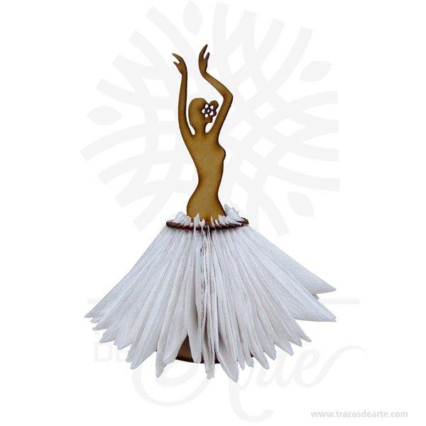 Servilletero artesanal bailarina en madera MDF, Adornosmuyespeciales ideal para decorar en bodas, 15 años, aniversarios, cumpleaños y todo tipo de eventos. Personalizada con tu nombre, tus iniciales o algún diseño especial. Este es un maravilloso regalo, suvenir; empresarial o para amigos y familiares. Hermosos recuerdo de bodas, 15 años, aniversarios, cumpleaños y todo tipo de eventos, son en madera MDF de excelente calidad. El servilletero artesanal bailarina en madera MDF es bello complemento decorativo . En la actualidad se utilizan diariamente comomerchandisingpublicitario (marketing) por parte de marcas y se encuentran en distintos estilos, formas y decoración. Tenga en cuenta que la madera es un material único, por lo que cuándo lo reciba será similar, no exactamente al de la foto. Servilletero artesanal bailarina en madera MDF Material: MDF de 3 mm de alta calidad Color: Descripción en foto Tamaño 26 x 13 cm Vendido y enviado por: Trazos de Arte. Envió rápido y seguro. Personalización Realice un pedido personalizado, podemos agregar lo que desee, como nombre, fecha, frase, logotipo, imagen o empaque regalo. Ofrecemos: Grabado por láser, grabado CNC Router, sublimado o papel adhesivo, el precio varía según el tipo de personalización que desee, encontrara más información enServiciosen nuestro menú secundario. Si desea cotizar o tiene preguntas presione el botónCotizar personalizacióncon gusto las responderemos.