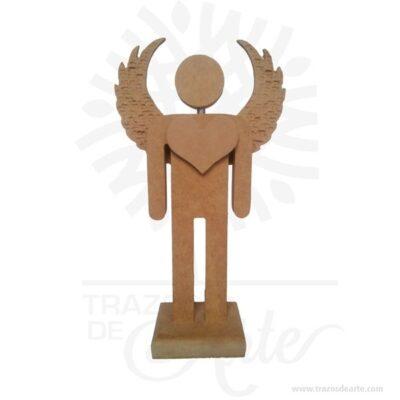 Figura ángel hombre en madera MDF 18 mm de 27 x 15,5 x 6 cm, figura decorativa de un bonito ángel plantado con sus alas abiertas y acompañado con un llamativo corazón aportando un toque muy especial a la decoración.Son recordatorios muy especiales ideal para adornos en bodas, bautizos, fiestas infantiles, cumpleaños y todo tipo de eventos.Estas bonitas figuras de ángel con alas son un regalo encantador o una decoración perfecta para el hogar, lo puedes personalizar con tu nombre, tus iniciales o algún diseño especial.Este es un maravilloso regalo, suvenir; empresarial o para amigos y familiares.Unángeles un sersobrenatural, inmaterial o espiritual cuyos deberes son asistir y servir aDios.Los ángeles son a menudo representados como mensajeros de Dios en la Biblia.Son considerados como criaturas de gran pureza destinadas en muchos casos a la protección de los seres humanos.Hermosos recuerdo de comunión, bautizo, baby shower, nacimiento, son en madera MDF de excelente calidad, todos se pueden grabar.En la actualidad se utilizan diariamente comomerchandisingpublicitario por parte de marcas o accesorio por jóvenes, y se encuentran en distintos estilos, formas y decoración.Tenga en cuenta que la madera es un material único, por lo que cuándo lo reciba será similar, no exactamente al de la foto.Figura ángel hombre en madera MDF 18 mmMaterial: MDF de 18 mm de alta calidadColor: Descripción en fotoTamaño 27 x 15,5 x 6 cmFecha estimada de entrega: De 5 a 7 días hábiles (en Bogotá, Medellín, Cali), al resto del país de 7 a 14 días.Recuerda que el tiempo de entrega comienza a partir del momento en que tu pago sea confirmado.Todos los productos son entregados al domicilio que informaste al realizar la compra.Vendido y enviado por: Trazos de Arte.Envió rápido y seguro.PersonalizaciónRealice un pedido personalizado, podemos agregar lo que desee, como nombre, fecha, frase, logotipo, imagen o empaque regalo.Ofrecemos: Grabado por láser, grabado CNC Router, sublimado o papel adhesivo