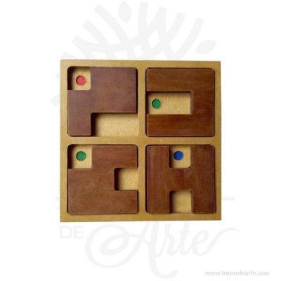 Juego Concéntrese en MDF de 21 x 21 cm, este novedoso juego de mesa que mejora tu razonamiento, coordinación, atención, memoria, capacidad deductiva. ¡Entrena tu destreza mental de una manera divertida! Concéntrese estimula la agilidad mental y la concentración, mejora la memoria. Coloca las piezas en el tablero de tal manera que puedas dejar visibles los colores que te van indicando. Elaborado y pintado a mano. El juego esta compuesto por: 1 Tablero. 4 Fichas. Hoja de instrucciones y niveles. Acepta este gran reto, nuestro juego del concéntrese están listos para jugar cuando quieras.Coloca las piezas de tal manera que puedas dejar visibles los colores que las cartas te van indicando. Escoge una carta del mazo de cartas de 48 niveles. Luego de esto comienza a colocar las piezas de tal manera que solo dejes visibles los colores que la carta te a indicado. Juego de habilidad por niveles (incluye instructivo) en TK Desarrolla tu memoria, tu capacidad de análisis y tu creatividad. Tenga en cuenta que la madera es un material único, por lo que cuándo lo reciba será similar, no exactamente al de la foto. Nombre Material: MDF Color: Descripción en foto Tamaño: 21 x 21 x 1,5 cm Fecha estimada de entrega: De 3 a 4 días hábiles (en Bogotá, Medellín, Cali), al resto del país de 7 a 14 días. Recuerda que el tiempo de entrega comienza a partir del momento en que tu pago sea confirmado. Todos los productos son entregados al domicilio que informaste al realizar la compra. Vendido y enviado por: Trazos de Arte. Envió rápido y seguro. Fecha estimada de entrega: De 5 a 7 días (en Bogotá, Medellín, Cali), al resto del país de 7 a 14 días. Personalización Realice un pedido personalizado, podemos agregar lo que desee, como nombre, fecha, frase, logotipo, imagen o empaque regalo. Ofrecemos: Grabado por láser, grabado CNC Router, sublimado o papel adhesivo, el precio varía según el tipo de personalización que desee, encontrara más información enServiciosen nuestro menú secundario. Si dese